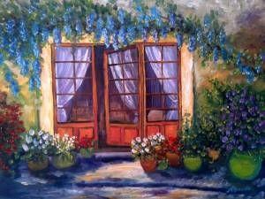 Bahçeye Açılan Kapi, Çiçekli kapı