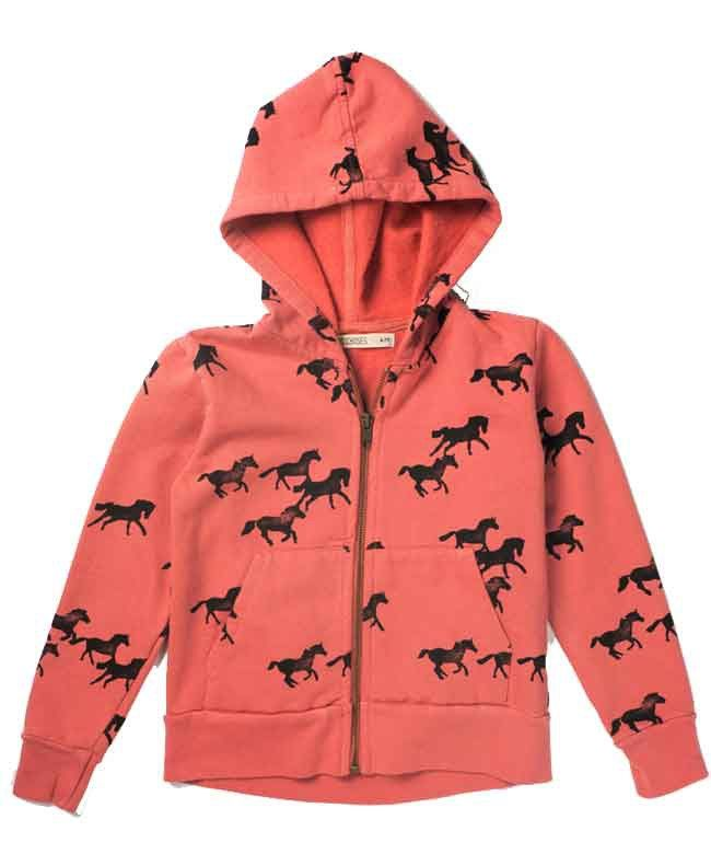Bobo Choses rode sweater paardenprint