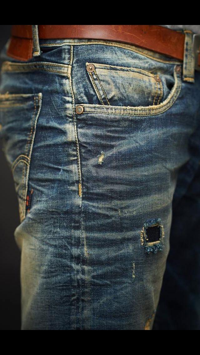 ruffed up jeans……beautiful