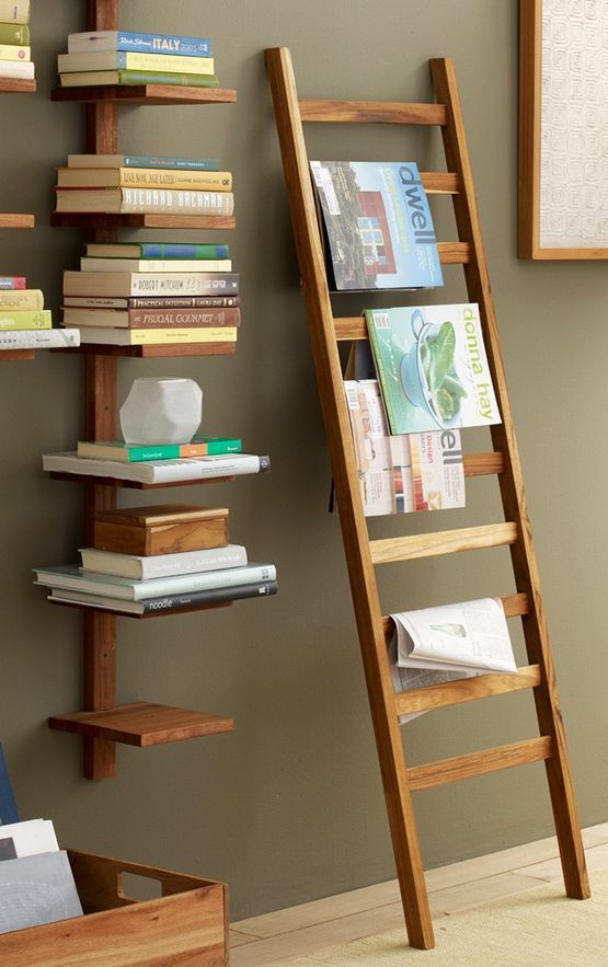 decorative teak ladder
