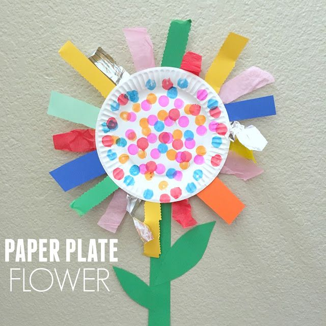 Paper Plate Flower Fine Motor Craft