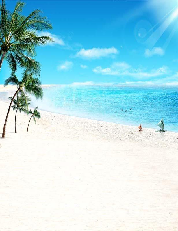 Pin On Summer Beach Backdrops