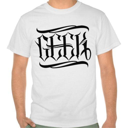 Geek Tattoo Lettering Tee Shirt #geek #lettering #LetterHype