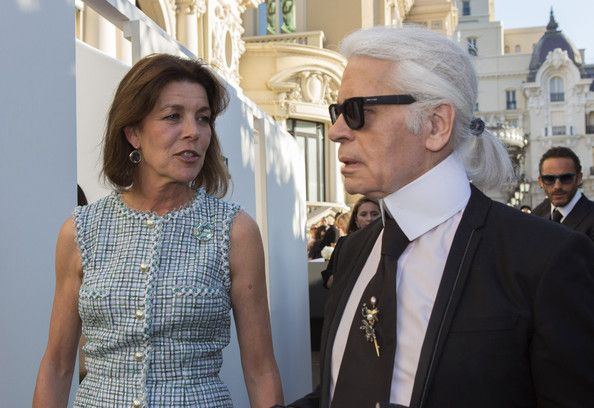 Karl Lagerfeld  Princess Carolina @ Chanel Jewellery Collection Launch in Monaco wearing 090/V/009 BLACK   http://www.italiaindependent.com/eng/shops/catalogue/2/Occhiali