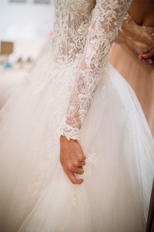 Lace sleeves with tulle ball gown.  LOCHNA - Dress by Janita Toerien - Photo by Moira West - www.janitatoerien.co.za (4).jpg