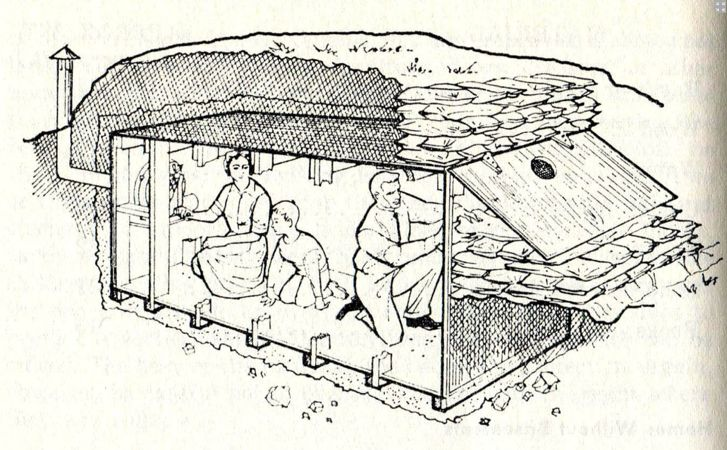 "In 1966 the US Department of Defense published the ""Personal and Family Survival Manual"" which included a chapter which explained how to build the family fallout shelter."