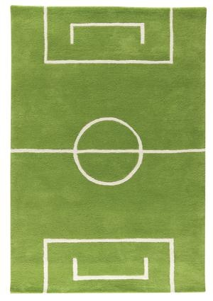 What a cute rug for football room!