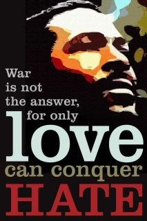 war is not the answer - Love this and that MAN!  Marvin Gay~
