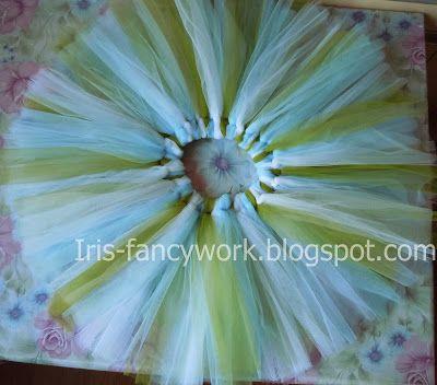 """My Fancywork Blog: Детская юбка-пачка из тюля """"Tu-tu"""" в зелено-голубы..."""