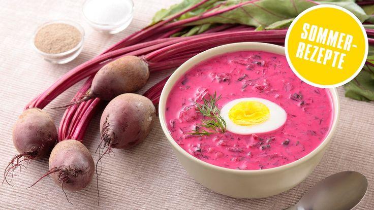 Sie ist kalt, sie ist leicht und super simpel. Saltibarsciai - die kalte Rote-Bete-Suppe aus Litauen ist die perfekte Abkühlung für heiße Tage.