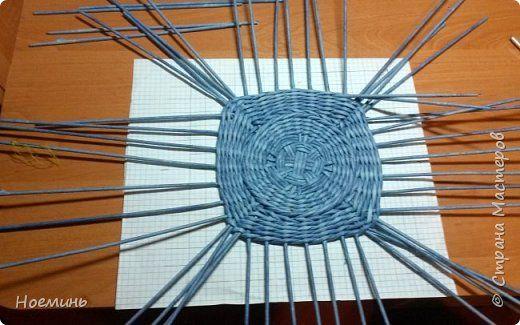 körből négyszög alap Поделка изделие Декупаж Плетение шкатулка Стрекоза + секретики Бумага фото 11