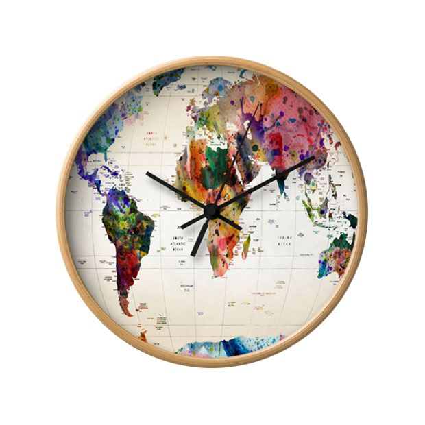 This is the ultimate map of the world. The clock will tick as you gaze out on all the adventurous places that are calling for you.  Find the World Wide Wall Clock, as seen in the Eclectic Bungalow Relaxation Collection at http://dotandbo.com/collections/eclectic-bungalow-relaxation?utm_source=pinterest