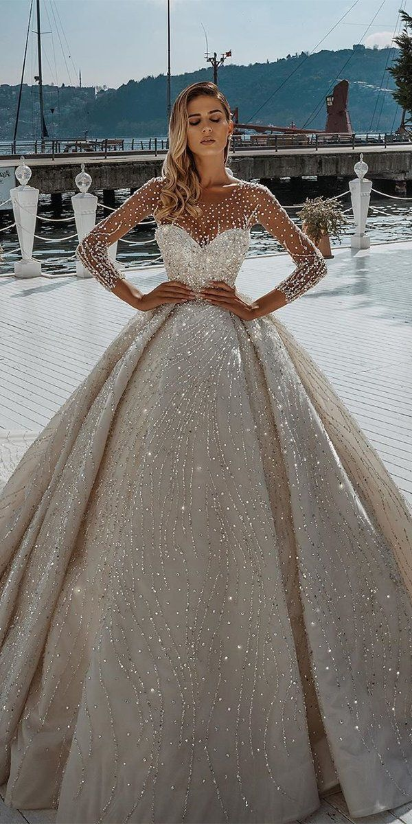24 Disney Wedding Dresses For Fairy Tale Inspiration In 2021 Disney Wedding Dresses Wedding Dress Long Sleeve Wedding Dress Guide