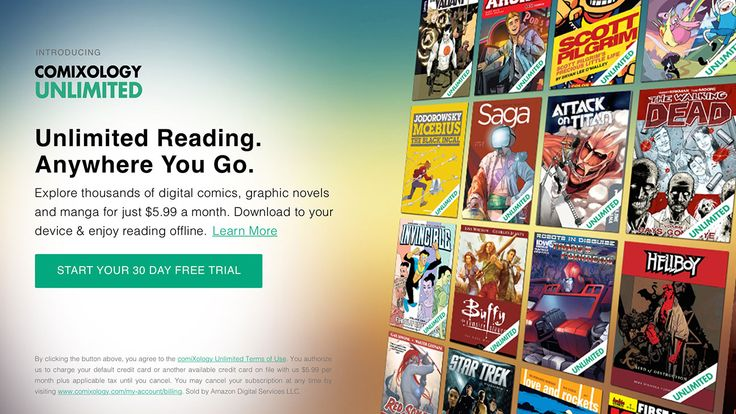 "ComiXology Launches Monthly ""Netflix for Comics"" Subscription  The Amazon subsidiary will offer titles from Image Comics IDW Publishing Boom! Studios and other indie publishers for $5.99 a month.  read more"