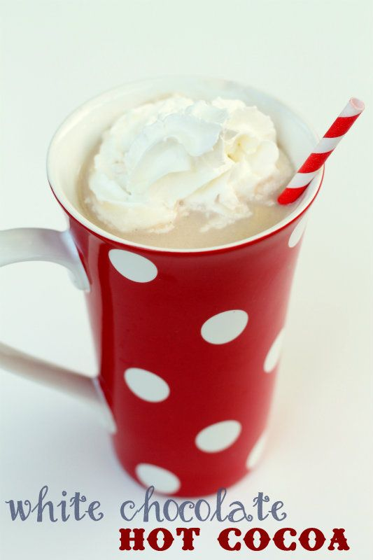 The best White Chocolate Hot Cocoa ever!! Yummy! { lilluna.com }