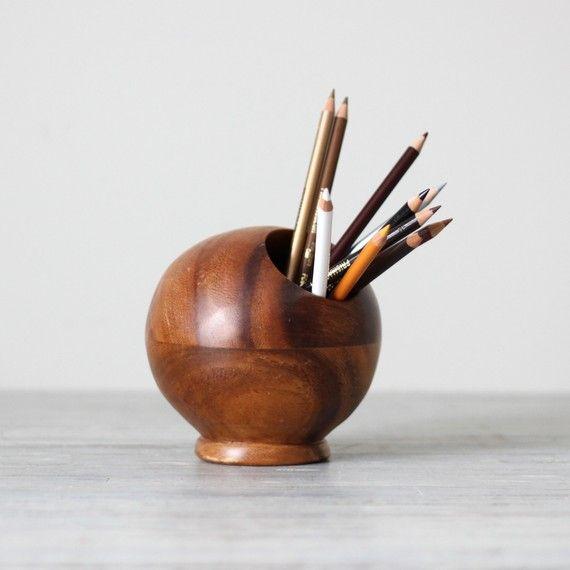modern wood sphere