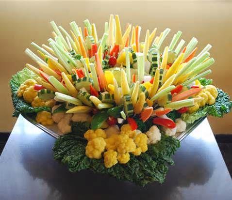 Crudite Centerpiece; Crudités – Healthy Vegetable Appetizer Recipes
