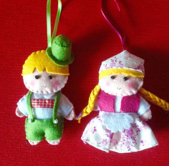 Decorazioni per l'albero di Natale ornamenti di di LaTanaDiOtto