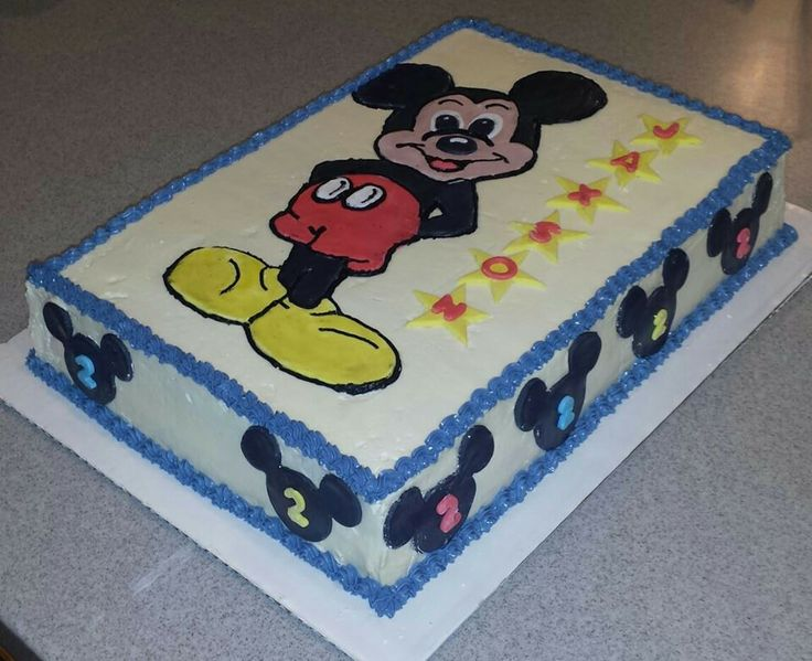 Mickey Mouse Sheet Cake By Bake My Day Bake My Day