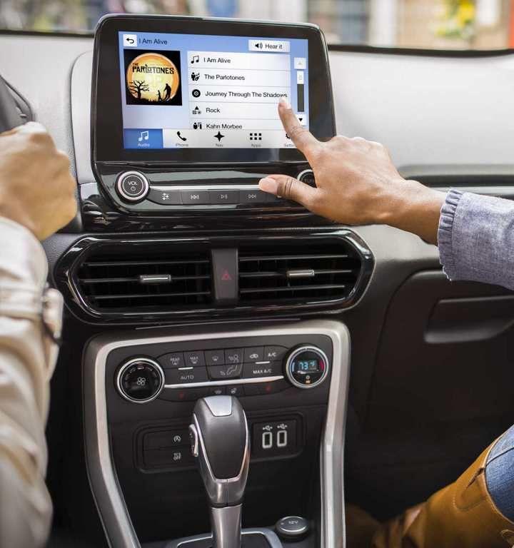 Console centrale de l'EcoSport2018 avec écran tactile de 8po