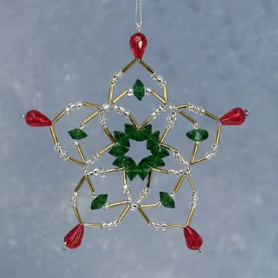 crochet covered christmas ornament | Crystal Slider and Seed Bead Ornament cover – Sova-Enterprises.com