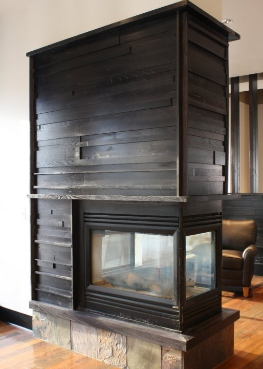 reclaimed fireplace surrounds w texture