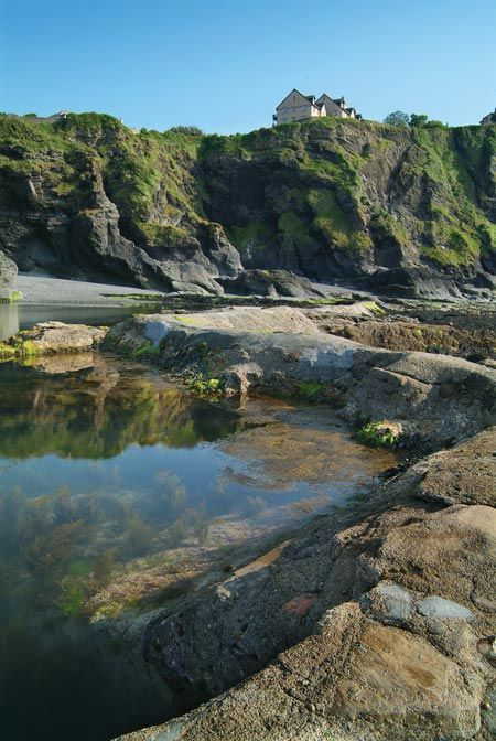 Tunnel beaches, Ilfracombe. Spent my childhood swimming in these massive rock pools & then home in time for Thunderbirds.