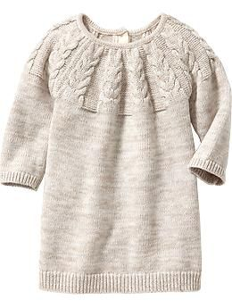 Marled Cable-Knit Sweater Dresses for Baby | Old Navy