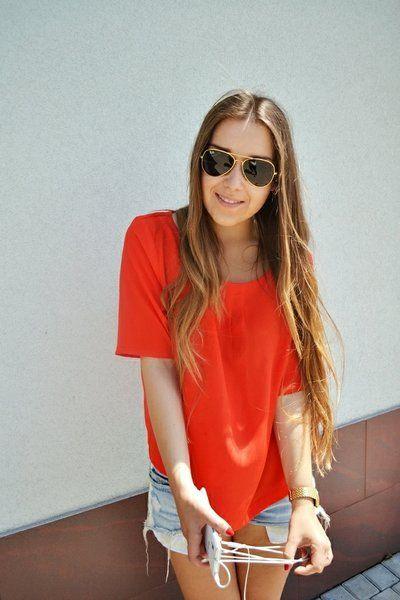red: A look created by Adrianna Wulczyn on Fashiolista.com