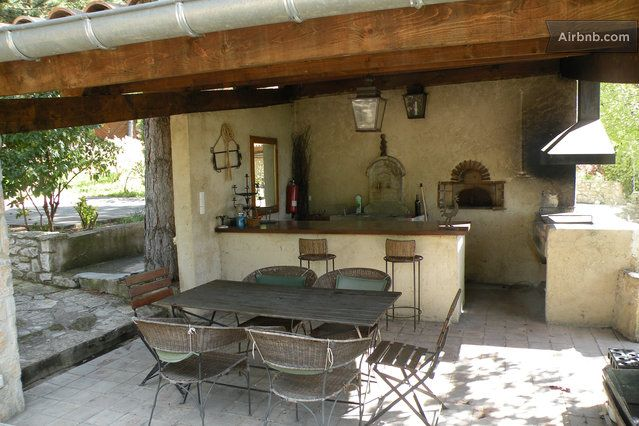 8 best Barbecue images on Pinterest Outdoor spaces, Backyard ideas - plan de travail pour barbecue exterieur
