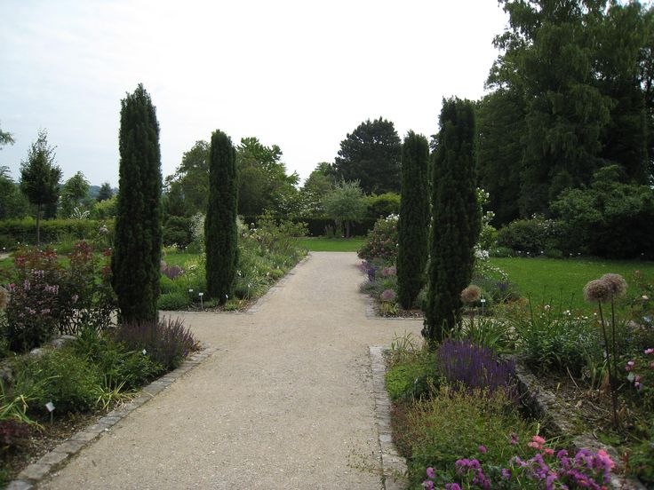 Perennial borders at Weihenstephan, Freising, Germany