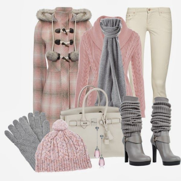 Winter Outfit: Style, Clothes, Dream Closet, Clothing, Color, Cute Winter Outfits, Pink, Winter Fashion, Fall Winter