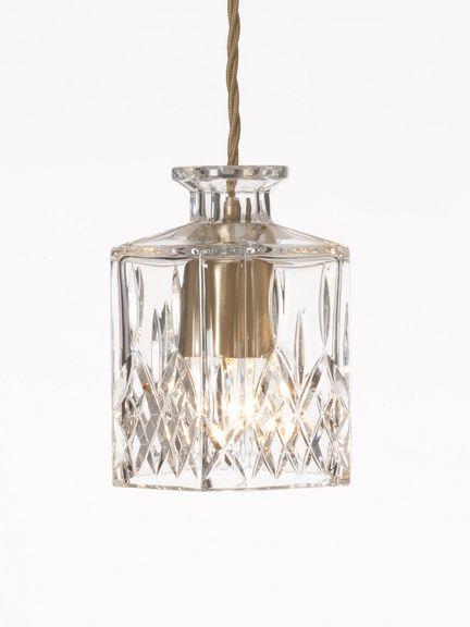 Square Decanter light , Decanter lights - Holloways of Ludlow
