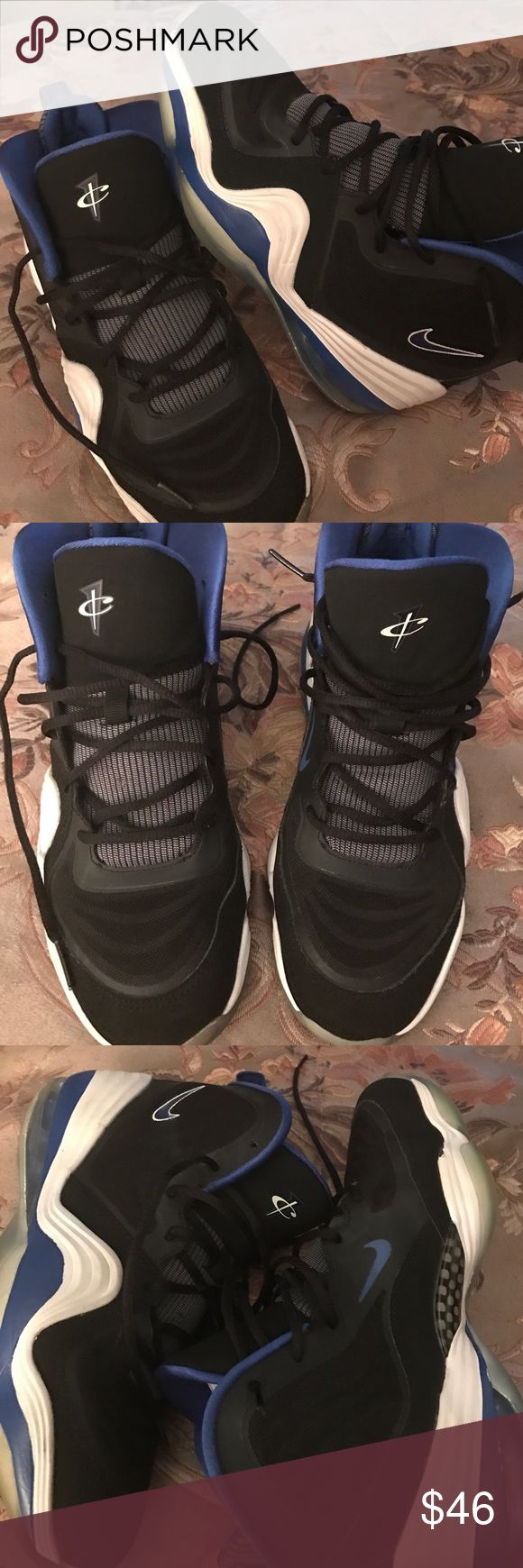 Nike penny Hardaway The shoes are in good condition there is a little damage on the sole (which could prob be glued down) as noted in last pic otherwise very good condition Clean and comes from smoke free home sz 6.5 boys/  8/8.5 women's Nike Shoes Sneakers