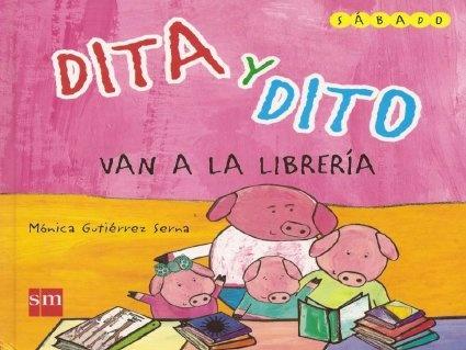 """""""Dita y Dito van a la biblioteca"""" Cuento adaptado con pictogramas broadmaker by marhugo, via Slideshare"""