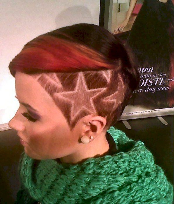 More hair shaver art! If I had the guts. Maybe before I have to buzz it off I'll do something fun like this...