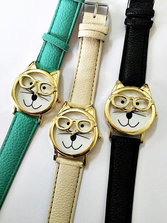 Cat Watch 16 Color Watch Bands Cat Wearing Glasses Women Watches Teens  Accessories Cute Unique Leather. 17 Best ideas about Teen Accessories on Pinterest   Arrow necklace