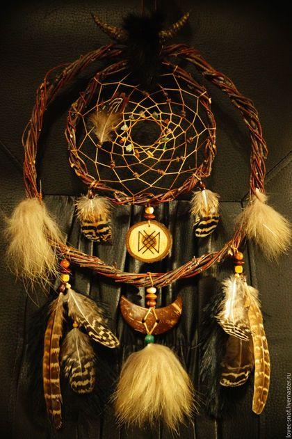 "Hunters handmade dreams.  Fair Masters - handmade.  Buy ""Viking II"" Dreamcatcher warrior-defender with the amulet ""Health"".  Handmade."