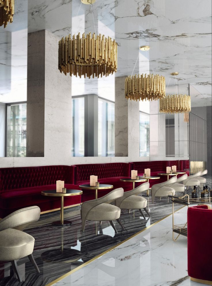 Create an elegant, stylish and unforgettable restaurant design / #design #hoteldesign #bardecor / modern interior design, restaurant design, hotel interior design / Go to :  https://www.brabbu.com/all-products/