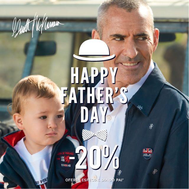 Happy Father's Day 20% de desconto na Coleção Man Spring/Summer 16 Disponível na sua Loja Lion of Porches e em www.lionofporches.com