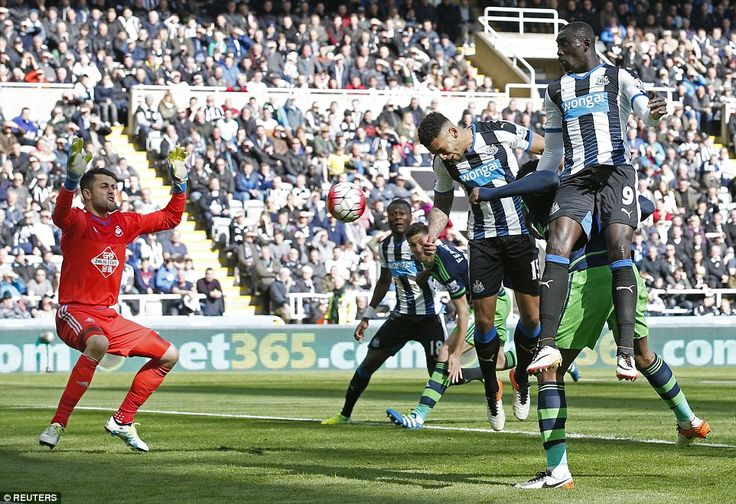 Lascelles lost his marker to head home the opening goal from a corner, although Swansea No 1 Lukas Fabianski could have done better