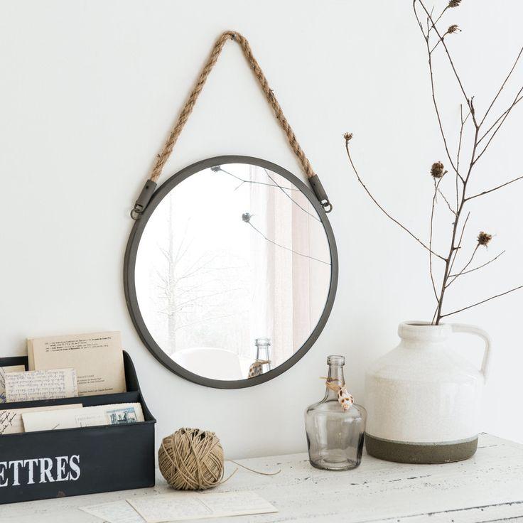 Miroir rond en métal D30   Maisons du Monde