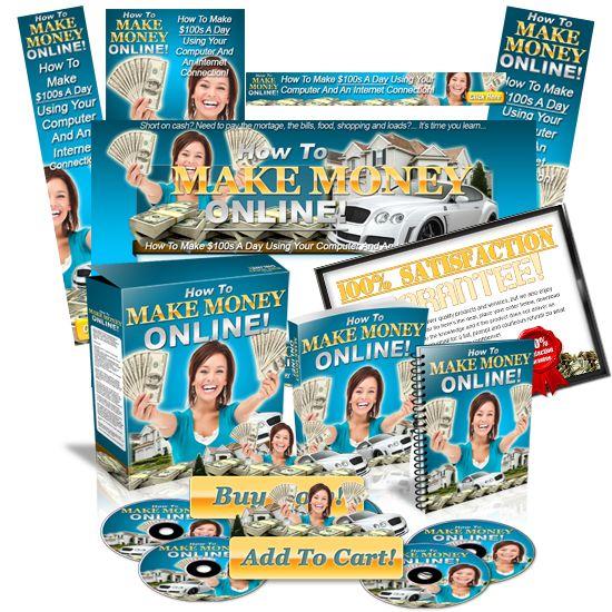 Minisite Graphics Set #20: How To Make Money Online