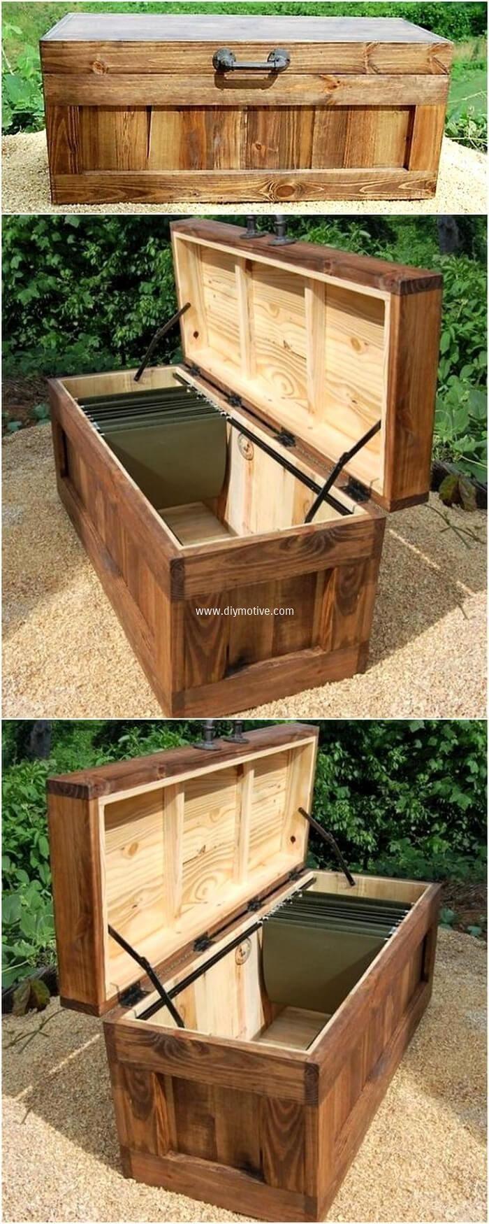 wooden pallet chest idea