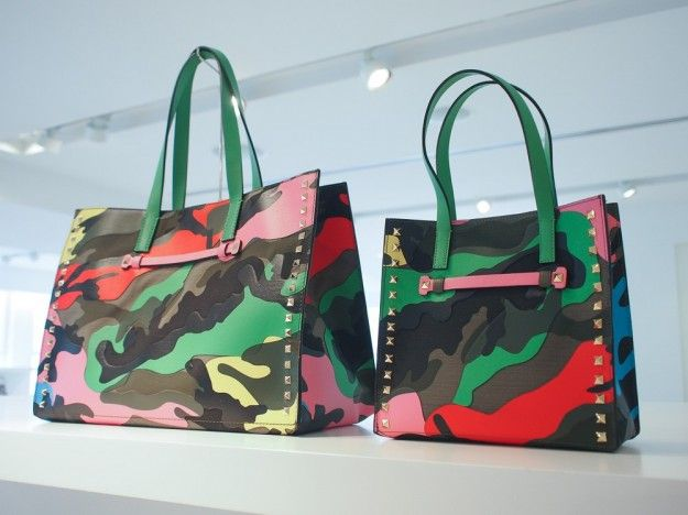 La collezione di borse Resort 2015 #Valentino. #bags #bag #camouflage