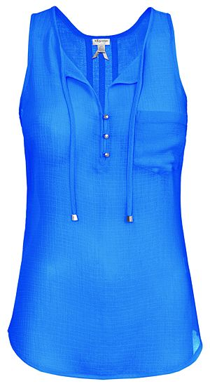 CREPE SLEEVELESS BLOUSE | Dynamite.ca