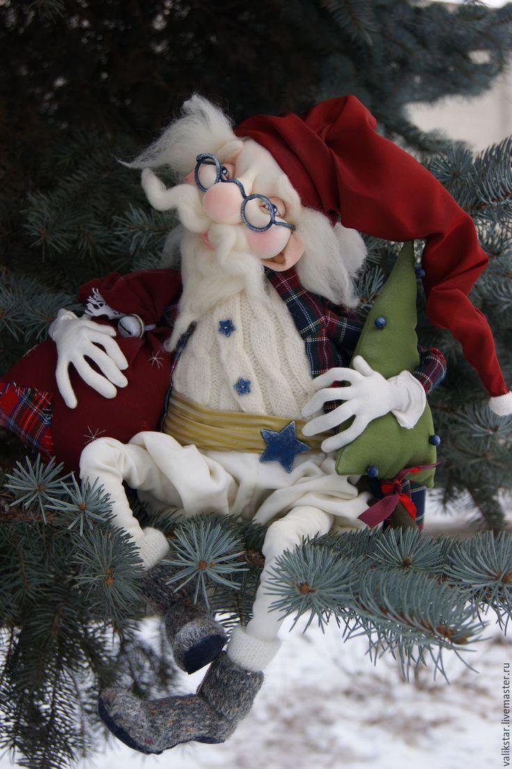 новогодние поделки выкройка дед мороз из фетра своими руками фото