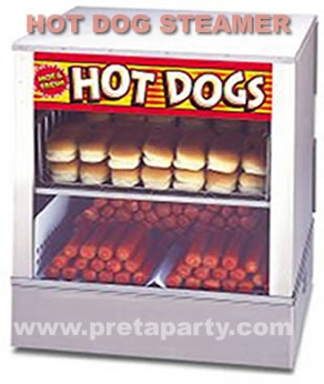 Hot Dog steamer rental in Montreal!  Delicious...........mmm