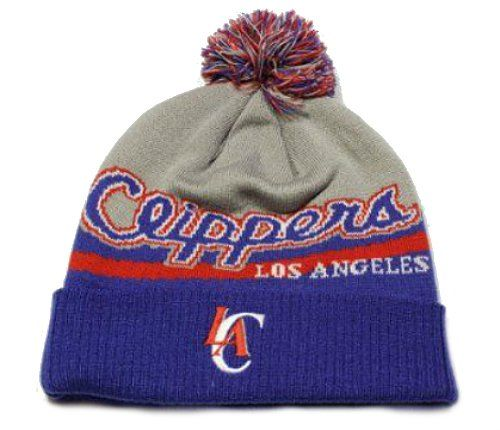 Adidas Los Angeles Clippers Cuff Knit Beanie w Pom One Size Fits All NBA Authentic Hat Cap  Team Colors *** See this great product.