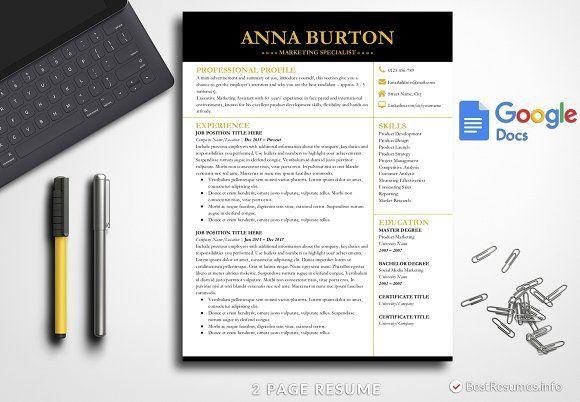 Resume Templates  Design  Modern Resume Template Google Docs by - font on resume